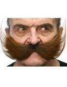 Breiter Schnurrbart für Erwachsene braun