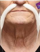 Chinesen Schnurrbart für Erwachsene weiss