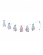 Gespenter-Girlande für Halloween mit Leuchteffekt weiss-bunt 150cm