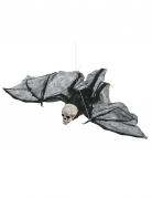 Totenschädel-Fledermaus Halloween-Hängedeko 50 cm