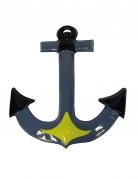 Bootsanker - Wand-Dekoration - 52 cm - grau-gelb-schwarz