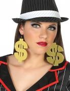 Dollarzeichen-Ohrringe 2 Stück gold