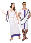 Römer-Paarkostüm Fasching weiss-violett-gold
