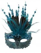 Glitzer-Maske für Damen blau