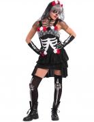 Sexy Dia de los Muertos Skelett-Kostüm für Damen