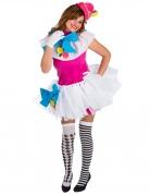 Clown Kostüm für Damen bunt