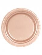 Pappteller-Set metallic rosa 8 Stück 18cm