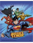 Justice League™-Geschenktüten Lizenzartikel blau-bunt 18x23cm