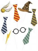 Harry Potter™ Schnellverkleidungs-Set für Fotos 8-teilig bunt