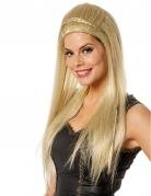 Glatte Langhaar-Perücke für Damen 60er-Jahre-Perücke blond