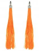 Ohrringe mit Fransen für Erwachsene orange