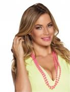 Perlenketten 80er-Accessoire 2 Stück pink