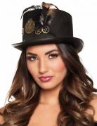 Steampunk-Hut mit Zahnrädern für Erwachsene
