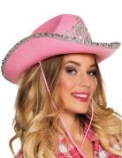 Cowboy-Prinzessin Hut für Damen rosa