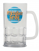 Oktoberfest-Bierkrug transparent-bunt 14cm