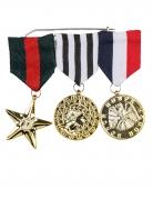 Ehrenmedaillen 3 Stück Kostüm-Accessoire bunt