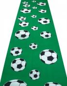 Fussball-Tisch-Läufer grün-schwarz-weiss 450x60cm