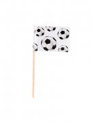 Fussball-Fähnchen 24 Stück schwarz-weiss 7cm
