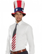 USA-Krawatte Party-Accessoire blau-rot-weiss 70cm