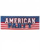 USA Banner Partydeko blau-weiss-rot 220 x 74cm
