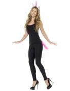 Einhorn Kostüm-Set für Erwachsene rosa