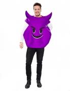 Lila Teufel Emoticon Kostüm für Erwachsene
