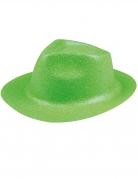 Pailletten-Hut mit Glitzer neongrün