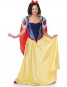 Schneewittchen™-Damenkostüm Märchen gelb-rot-blau