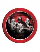 Star Wars: Die letzten Jedi™ Partyteller Stormtrooper-Team 8 Stück rot-weiss-schwarz 23cm