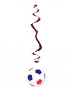 Hänge-Dekoration Fussball 6 Stück blau-weiß-rot 80 cm