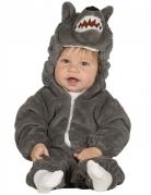 Niedliches Wolfskostüm für Babys grau
