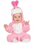 Niedliches Kaninchen-Babykostüm rosa-weiss