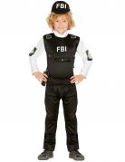 FBI-Agent Kinderkostüm schwarz