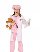 Tierärztin-Kostüm für Kinder Fasching rosa-weiss