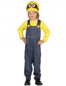 Lustige Trickfilmfigur Kinderkostüm grau-gelb