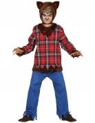 Werwolf-Kinderkostüm Halloweenkostüm für Kinder braun-rot
