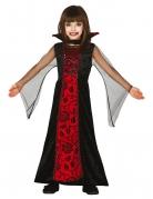 Vampirgräfin Kinderkostüm Halloween schwarz-rot