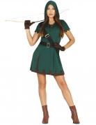 Bogenschützin-Kostüm für Damen Karneval grün