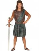 Kariertes Schotten-Kostüm grün-braun