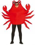 Witziges Krabben-Kostüm für Damen und Herren rot