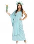 Freiheitsstatue Damenkostüm hellblau