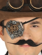 Steampunk-Augenklappe Kostüm-Accessoire bronze-silber