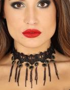 Gothic-Collier für Damen Accessoire Halloween schwarz
