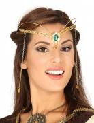 Königin-Diadem für Damen Accessoire gold-grün