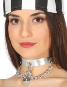 Sexy Gefangenen Halskette für Damen Schmuck silber