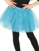 Tutu mit Glitter für Mädchen blau