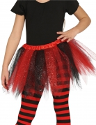Marienkäfer-Tutu mit Glitzer für Mädchen schwarz-rot