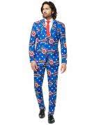 Mr. Captain America™-Kostüm für Herren Opposuits™ blau-rot-weiss