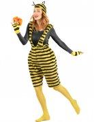 Süsse Biene-Damenkostüm Latzhose gelb-schwarz