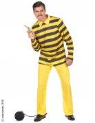 Dalton-Kostüm für Erwachsene Lucky Luke™-Lizenzkostüm gelb-schwarz